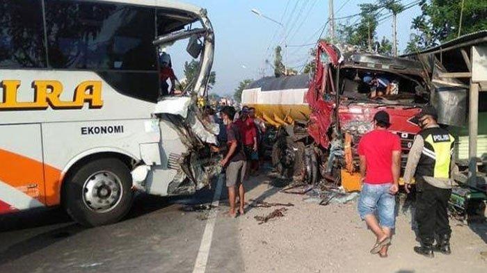 Penyebab Tabrakan Frontal di Jombang, Polisi Duga Sopir Bus Mengantuk: Melebar Hantam Truk Tangki