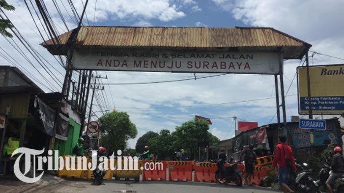 Jalan Rungkut Menanggal Surabaya Ditutup sampai PSBB Berakhir, Berikut Rekayasa Lalin yang Disiapkan