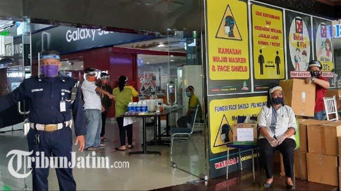 Terapkan Protokol Covid-19 Ketat, Pengunjung Plaza Marina Surabaya Wajib Pakai Face Shield