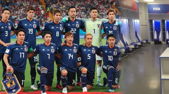Kalah dari Belgia, Timnas Jepang Buat Netizen Dunia Kagum, Ruang Ganti dan Pesan Perpisahan Disorot