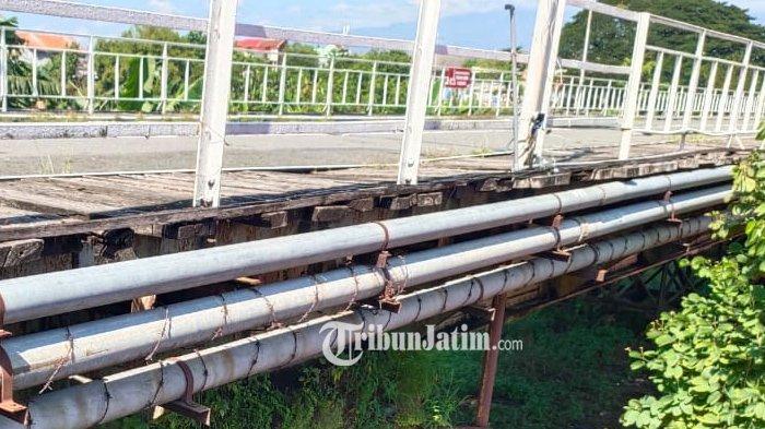 Jelang Ulang Tahun ke 152, Kondisi Jembatan Lama Kediri Sangat Memprihatikan, Begini Gambarannya