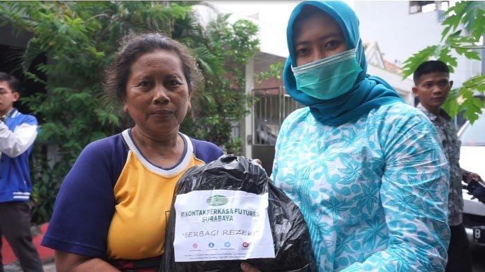 KPF Surabaya Turun Tangan Atasi Warga Terdampak Wabah Virus Corona, Tebar 250 Sembako di 5 Lokasi