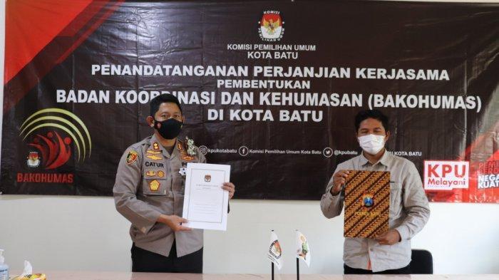 KPU Batu Kerjasama dengan Polres Batu Jelang Pemilu 2024