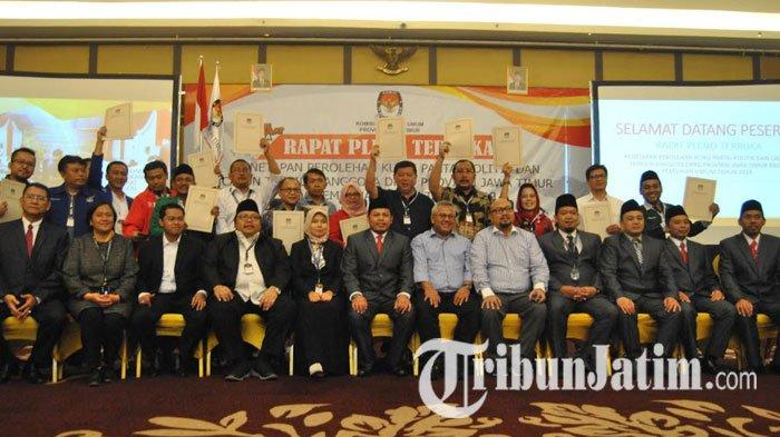 KPU Jawa Timur Tetapkan 120 Caleg Terpilih, PDI Perjuangan Jadi Pemenang, PBB dan Hanura Terendah