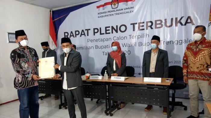 KPU Trenggalek Tetapkan Mas Ipin-Syah sebagai Bupati-Wakil Bupati Terpilih
