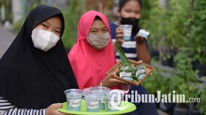 Geliat RT 2/RW 3 Ketintang Surabaya untuk Budidayakan Tanaman Telang, Ada Aneka Produk Olahan