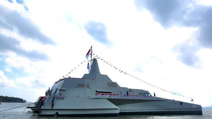 KSAL TNI Luncurkan KRI Golok, Kapal Perang 'Siluman' Buatan Banyuwangi