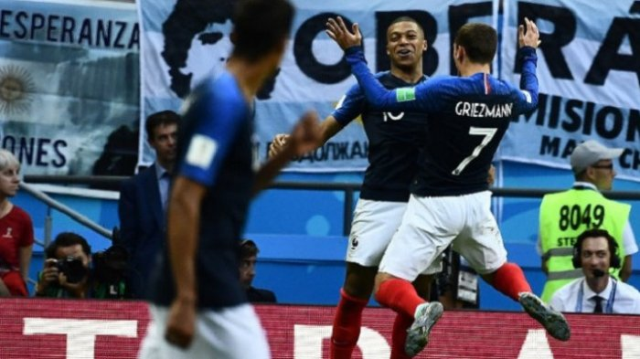 Prancis vs Argentina, Kylian Mbappe Sukses Buat Lionel Messi cs Angkat Koper dari Piala Dunia 2018