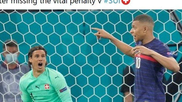 Tak bisa tidur, Kylian Mbappe ungkap alasan jadi eksekutor penalti kelima timnas Prancis di EURO 2020, Senin (28/6/2021).