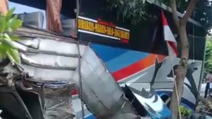 Kecelakaan Maut Libatkan Bus Sugeng Rahayu Terlibat di Jalan Raya Surabaya-Madiun, 1 Korban Melayang
