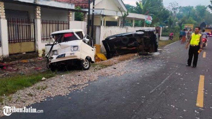 Truk Sayur Seruduk 2 Mobil Berhenti di Jalan Nasional Sumenep, Korban: Satu Orang Tewas, 3 Luka-luka
