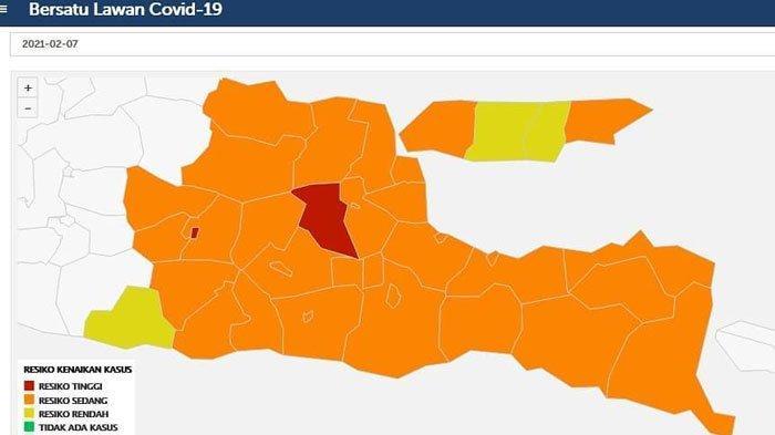 Terapkan PPKM 2 Jilid, Hari Ini Kabupaten Trenggalek Kembali ke Zona Oranye Covid-19