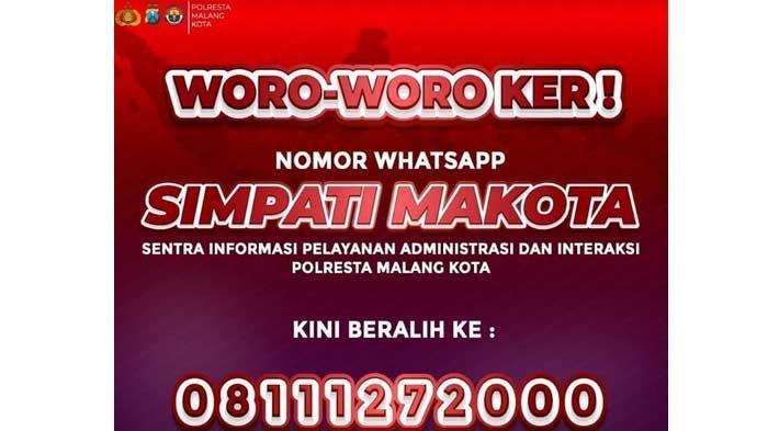 Layanan Nomor WhatsApp Simpati Makota Berganti, Kapolresta Malang Kota: Untuk Tingkatkan Pelayanan
