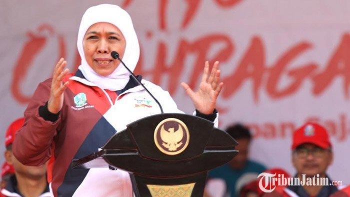 Gubernur Khofifah Berjanji Sampaikan Aspirasi Mahasiswa dan Masyarakat Jatim ke Pemerintah Pusat