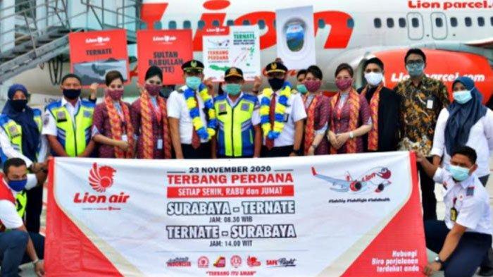Pembuktian Tidak Pailit Makin Ditunjukan Lion Air dengan Dibukanya Rute Baru Surabaya-Ternate PP