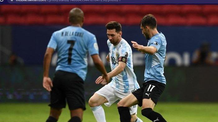 Hasil Argentina Vs Uruguay - Bungkam Luis Suarez dkk, Lionel Messi Cs Pecah Telur