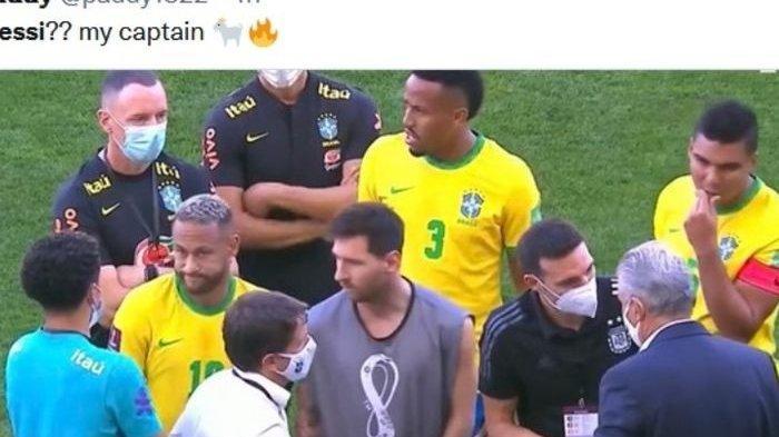 Brasil Vs Argentina Dihentikan, Ada Petugas yang Masuk ke Lapangan Bawa Senjata Api, Messi Bete