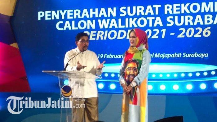 Nasdem Siapkan Nama Cawawali Pendamping Machfud Arifin di Pilkada Surabaya 2020