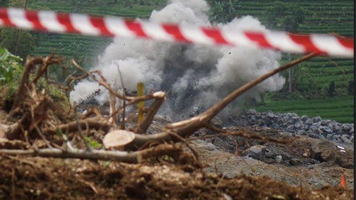 Peledakan Bebatuan Proyek Bendungan Bagong Trenggalek Dilanjutkan 25 Agustus, Warga akan Dievakuasi