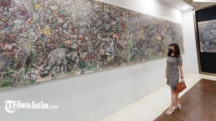 Lukisan 8 Meter I Nyoman Ari Winata Terpajang di Goedang Loekisan, Sarat Kekhasan dan Tradisi Bali