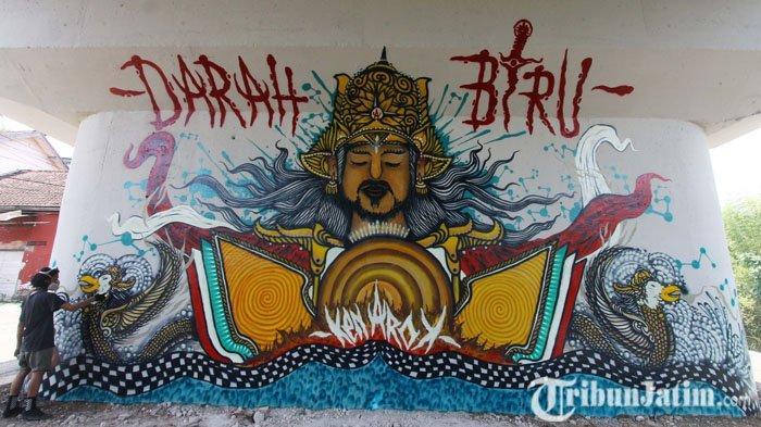 Graffiti Fly Over Kedungkandang Viral, Wali Kota Malang Sutiaji Beri Tanggapan