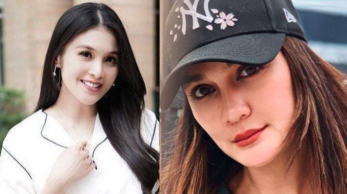 Luna Maya tersenyum malu disentil soal Reino Barack, Sandra Dewi heboh.