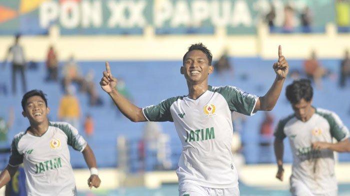Jabar Gagal Eksekusi Penalti, Tim Sepak Bola Jatim Unggul 1-0 Atas Jawa Barat