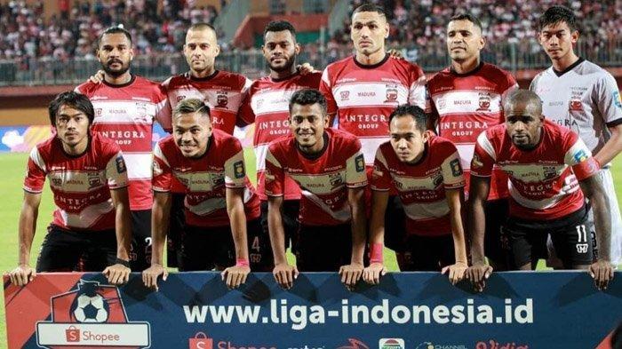 Babak Pertama Madura United Vs Persipura, Gol Cepat M Tahir Buat Madura United Tertinggal 0-1