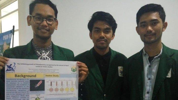 3 Mahasiswa UNUSA Ubah Daun Kemangi Jadi Antibiotik Alami, Efektif Bisa Hambat Penyebab ISPA