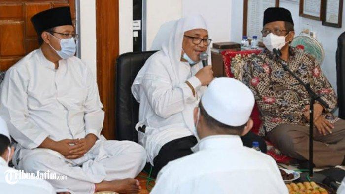 Khotmil Quran di Pasuruan, Mahfud MD: Mau Belajar Ilmu Kiai Hamid, Bisa Menebak Gus Ipul Jadi Wapres