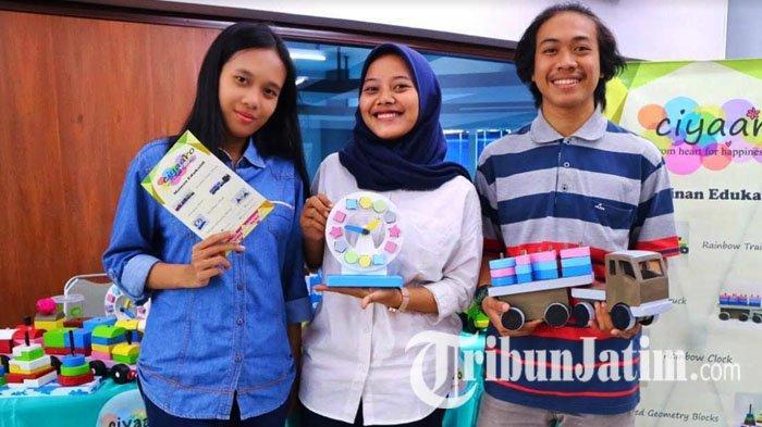 Mahasiswa Stikom Surabaya Ciptakan Mainan Edukatif Anak dari Limbah Kayu, Bisa Rangsang Motorik Anak