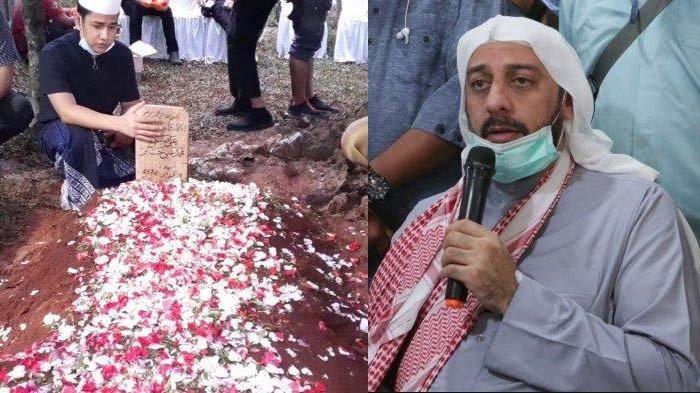 Makam Syekh Ali Jaber dan foto beliau semasa hidup.