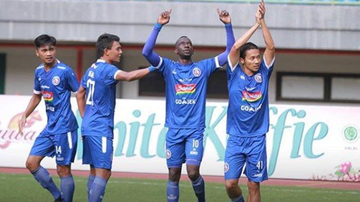 Arema FC Vs Persipura Jayapura, Gol Makan Konate Buka Keunggulan, Skor Sementara 1-0