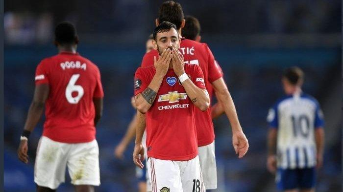Manchester United Vs Aston Villa - Cetak Gol, Bruno Fernandes Jadi Pahlawan Kemenangan Setan Merah