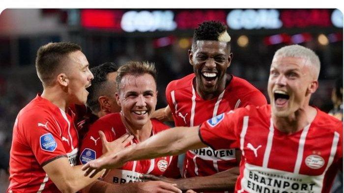 Rekap Hasil Liga Champions - Mario Goetze Moncer, PSV Eindhoven Kandaskan Galatasaray