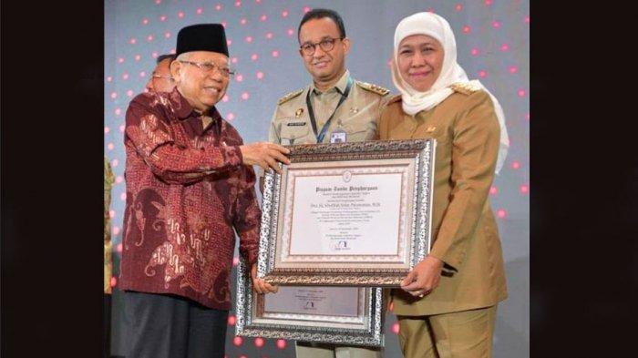 Khofifah Dianugerahi Sebagai Pemimpin Perubahan oleh KemenPANRB, Pemprov Jatim Borong 6 Predikat WBK