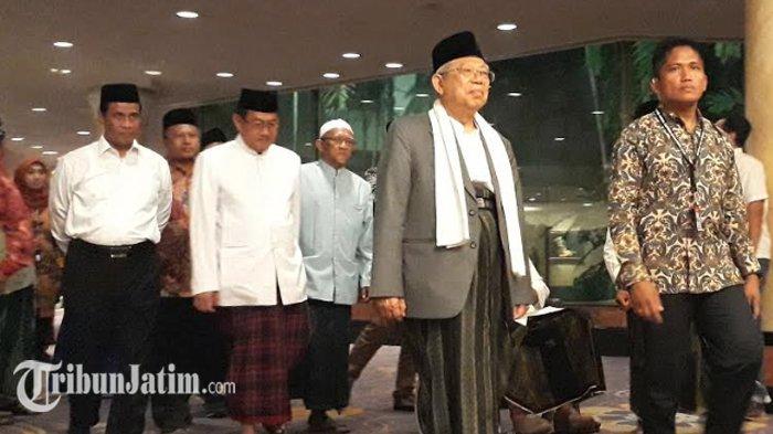 Hadir di Surabaya, Maruf Amin Lakukan Konsolidasi Bersama Alim Ulama se Jawa Timur