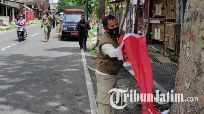 Masa Tenang Pilwali Blitar 2020, KPU dan Bawaslu Bersihkan Alat Peraga Kampanye
