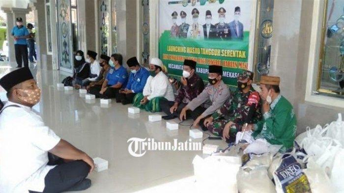 Kapolsek Galis Resmikan Masjid Tangguh Bencana Covid-19 se Kecamatan,Tanggulangi Covid di Pamekasan