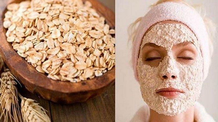 Masker scrub oatmeal