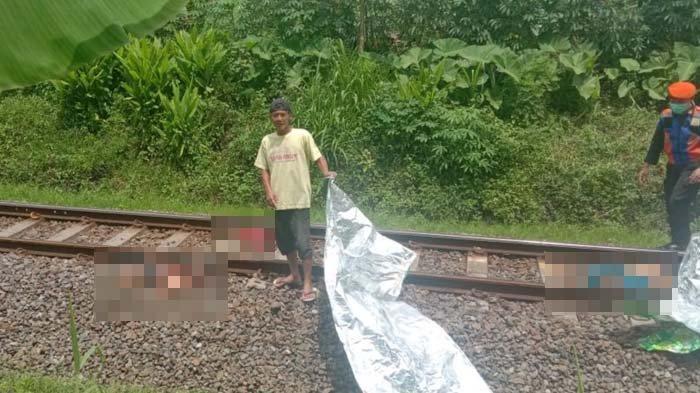 ISTIMEWA/TRIBUNJATIM.COM Sesosok mayat tak dikenal berjenis kelamin laki-laki ditemukan tergeletak di perlintasan kereta api Desa Tunjungtirto, Kecamatan Singosari, Malang pada Rabu (24/2/2021).