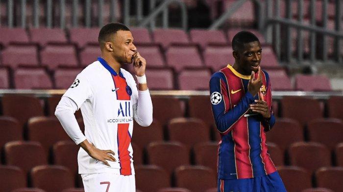 Hasil Liga Champions - Hattrick Mbappe Bawa PSG Menang di Kandang Barca, Messi Cetak Gol Pinalti