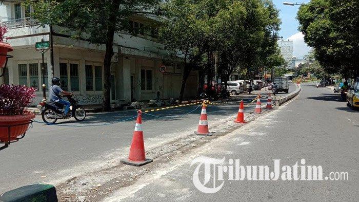 Jalan Basuki Rahmat Kota Malang Belum Ditutup, Dishub Tunggu Pelaksana Proyek Siapkan U Turn