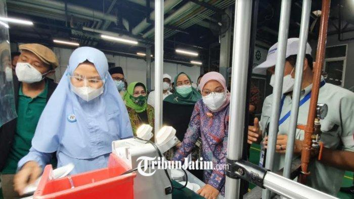 Menteri Ida Fauziyah Tinjau Prokes di Panasonic, Kompleks Pasuruan Industrial Estate Rembang (PIER)