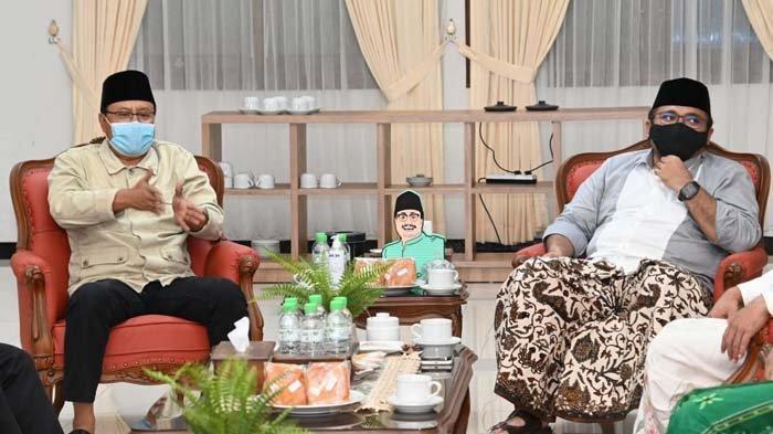 Menteri Agama Gus Yaqut dan Gus Ipul Ngopi Bareng Bahas NU Hingga Program untuk Kota Pasuruan