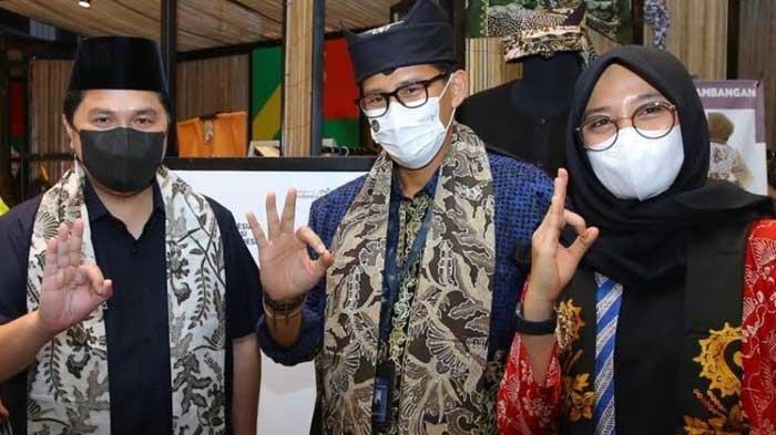 Ketika Menteri BUMN Erick Thohir dan Menparekraf Sandiaga Uno Bertemu di Banyuwangi