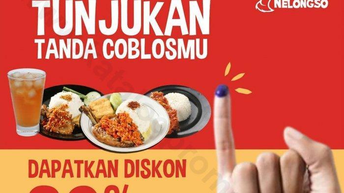 DAFTAR Promo Makanan di Pilkada 2020, Ayam Goreng Nelongso hingga BreadTalk, Tinggal Tunjukkan Jari!