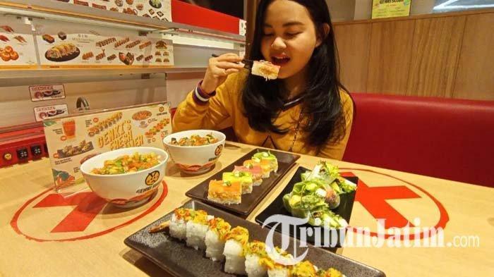 Mencicipi Segarnya Buah Musim Panas Berpadu dengan Sajian Khas Jepang ala Genki Sushi Surabaya