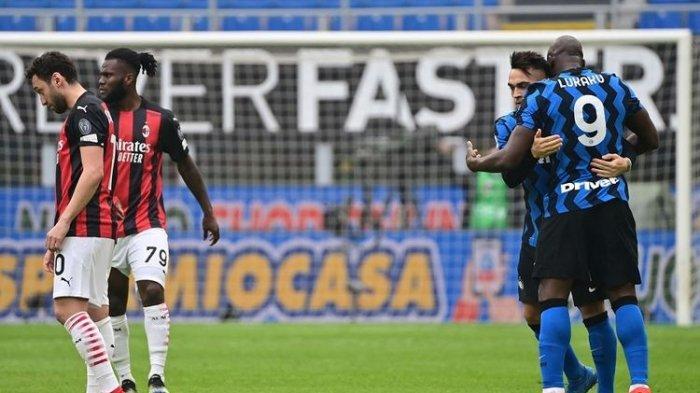 Hasil Milan Vs Inter - Duet Lautaro-Lukaku Benamkan Rossoneri, La Beneamata Kokoh di Puncak Klasemen