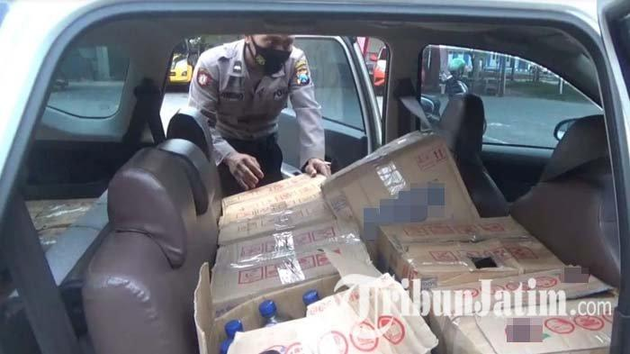 Nasib Pembawa Ratusan Botol Miras Arak Jowo yang Terjaring Razia Saat Penyekatan Larangan Mudik